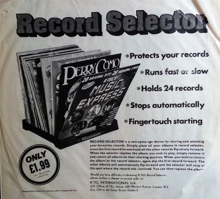 K-Tel Automatic Record Selector - for when you're too relaxed to flick